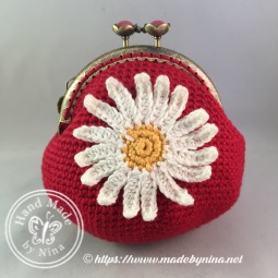 Red Daisy *Card Purse