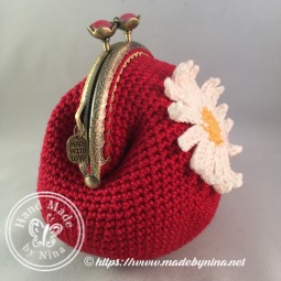 Red Daisy *Card Purse (Side)