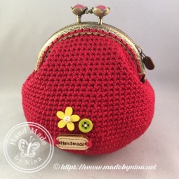 Red Daisy *Card Purse (Back)