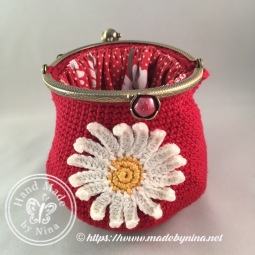 Red Daisy *Card Purse (Open)