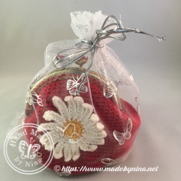 Red Daisy *Card Purse (In gift bag)