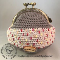 Grey Speckle *Card Purse (Back)