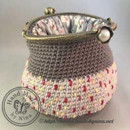 Grey Speckle *Card Purse (Open)