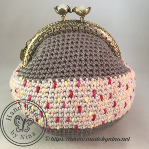 Grey Speckle *Card Purse (front)