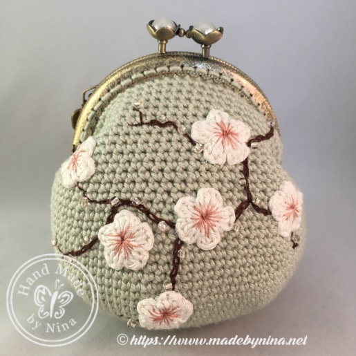 Jade Cherry Blossom *Card Purse
