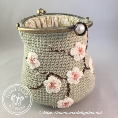 Jade Cherry Blossom *Card Purse (open)