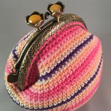 Candy Stripe *Card Purse (Side)