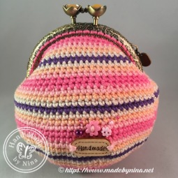 Candy Stripe *Card Purse (Back)