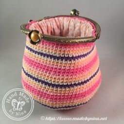 Candy Stripe *Card Purse (Open)