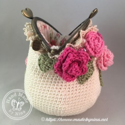 Rose *Card Purse (side open)