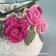 Rose *Card Purse (side)
