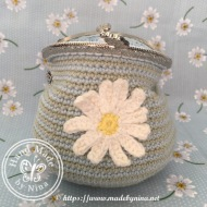 Daisy Cat *Card Purse (Open)