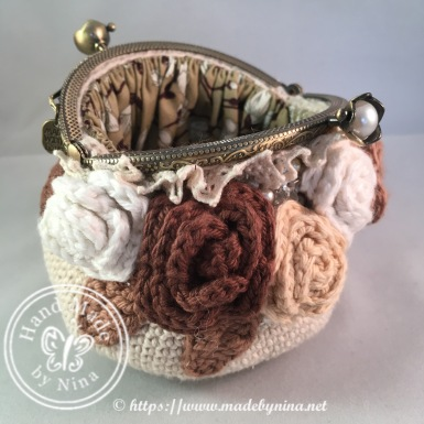 Vintage Rose *Card Purse (Open)