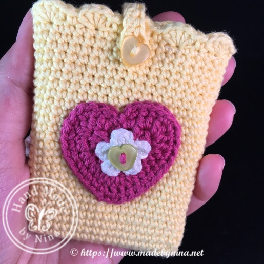 Yellow heart *Card holder