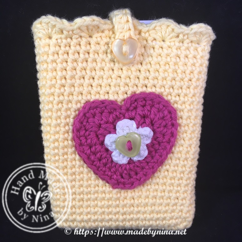 Yellow heart *Card holder (front)