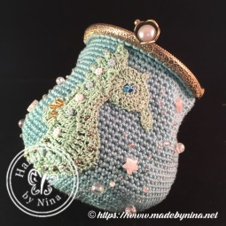 Seahorse *Card Purse (Open side view)