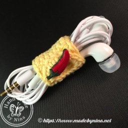 Earphone *Cable Tidy (Yellow Chillie)