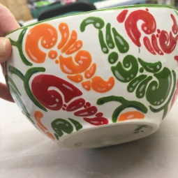 J's chilli bowl glazed and fired (side)