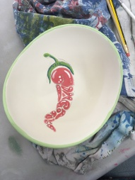 J's chilli bowl painted (inside)