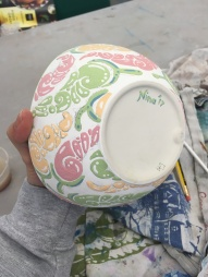 J's chilli bowl painted (getting there)
