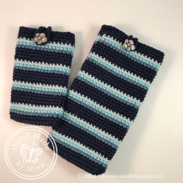 Blue stripe duo - *phone and *card holders