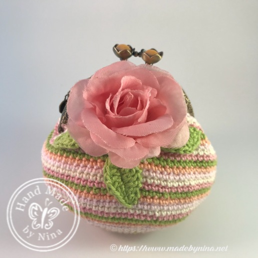 Peach Rose *Card Purse