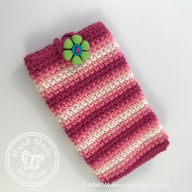 Pink stripe *Card pouch
