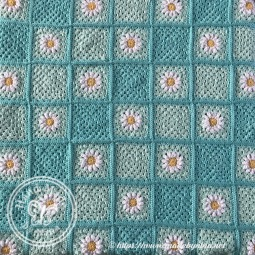 Mom's Daisy blanket - the squares