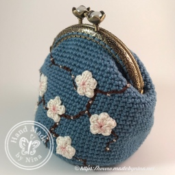 Mandy's *Cherry Blossom coin purse - side