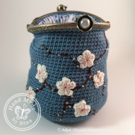 Mandy's *Cherry Blossom coin purse - open