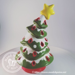 Pottery painting - Christmas tree