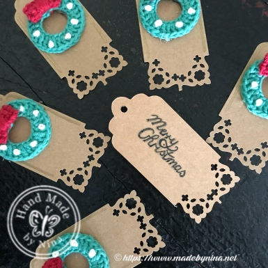 Christmas gift tags 'Merry Christmas'