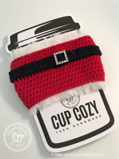 Christmas Cup Cozy - Santa Belly