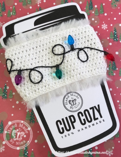 Christmas Cup Cozy - Festive Lights